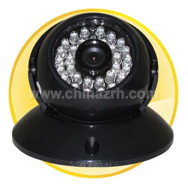 2.5 inch Plastic IR Dome Camera with Color 1/3inch Sony 540 Line CCD+SONY DSP + 20M IR Distance