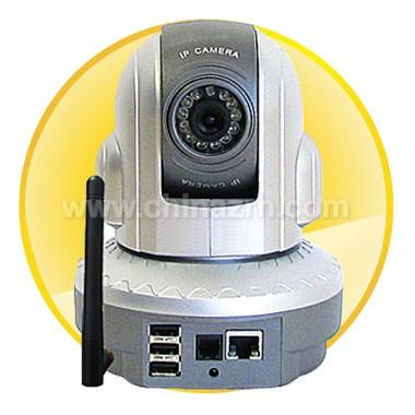 Pan/ Tilt IR IP Dome Camera - 1/3 inch CMOS Sensor
