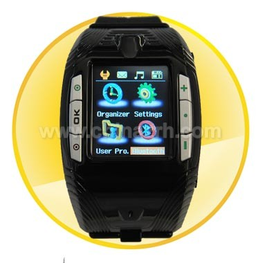 1.3 Inch Touch Screen Watch Phone with Camera/MP3/MP4/Bluetooth