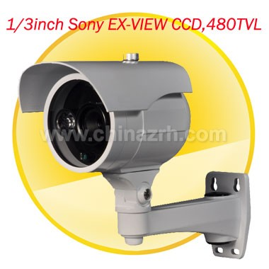 10-80m IR Waterproof Camera with 1/3inch Sony EX-VIEW CCD + 480TVL