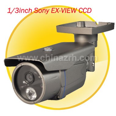 5-30m IR Waterproof Camera with 1/3 inch Sony EX-VIEW CCD + 480TVL