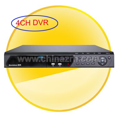 4 Channel Stand-Alone Digital Video Recorder DVR + H.264 Compression + PTZ + 3G + Remote