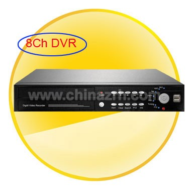8CH Stand-Alone Digital Video Recorder with H.264 + 8Vedio at the Same Time + USB + Remote Control + Support 3G