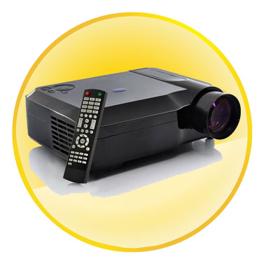 5.8 inch TFT LCD 2800 Lumens Full HD LED Projector with Analog TV