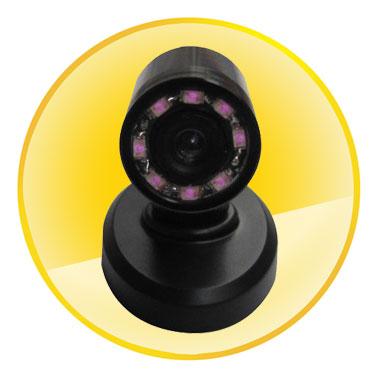 520TVL Mini CCTV Camera with 90 deg view angle with 8 IRs