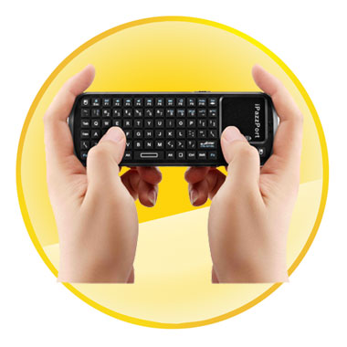 iPazzPort Mini Wireless Keyboard with Smart TV/PC Remote