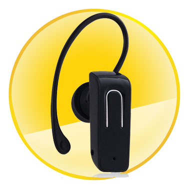 Mono Bluetooth Headset with Tail Number Redial Function