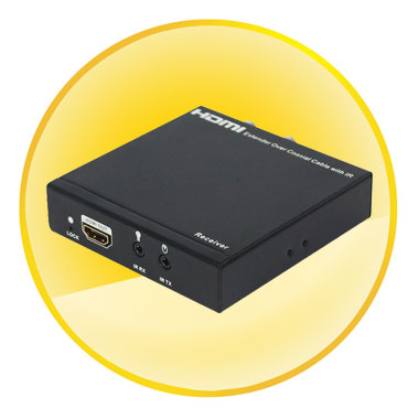 IR Controlled HDMI Extender Over Single 100m/328ft Coaxial Cables