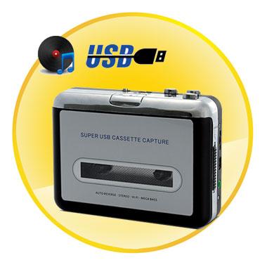 Tape-to-MP3 converter + USB Cassette Player