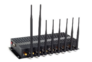 8 Powerful Antenna 3G/4G WiFi High Power Cellphone Jammer with Portable Aluminum Box