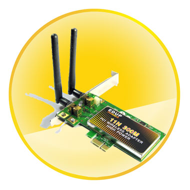 802.11b/g/n 300Mbps Wireless PCI-E LAN Card