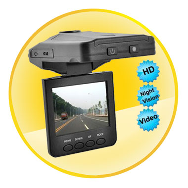 720P HD 2.5 Inch LCD Display Car DVR with Night Vision