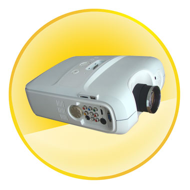 5.0 Inch LED Lamp Projector with 2000Liumens + 10x Digital Focus