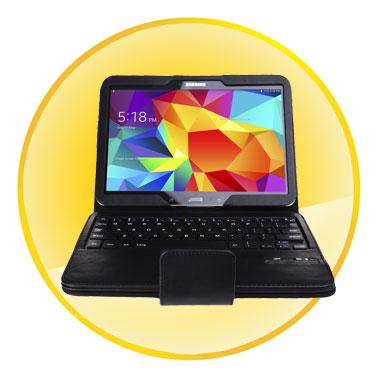 Samsung Tab4 10.1inch Bluetooth Keyboard Leather Case