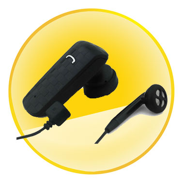 Mono Bluetooth Headset with Tail Number Redial Functions