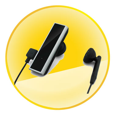 Touch Control Mono Bluetooth Headset with Voice Dialing