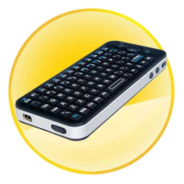 Fly Mouse Mini Bluetooth Keyboard for Apple TV Box Remote