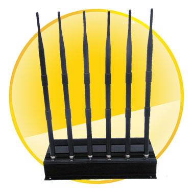 High Power 6 Antenna Cell Phone, GPS, WiFi, VHF, UHF Jammer