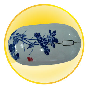2.4 G Blue and White Porcelain Series Wireless Mouse Q008