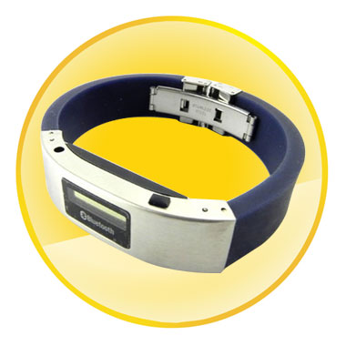Bluetooth Vibration Bracelet with OLED Caller's ID Display