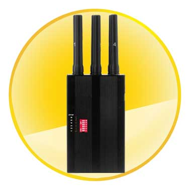Controllable Handheld 3G Cell Phone WiFi Jammer & All GPS Signal Jammer