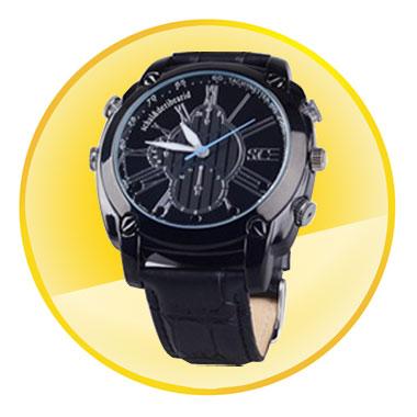 1080P Waterproof Watch Camera (8GB,Night Vision,Motion Detection)