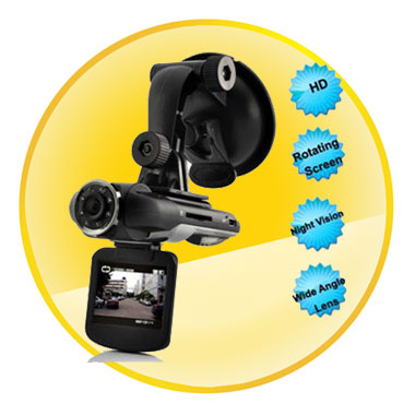 2 Inch Touch Screen HD 1080P Car DVR Dashcam with Wide Angle Lens