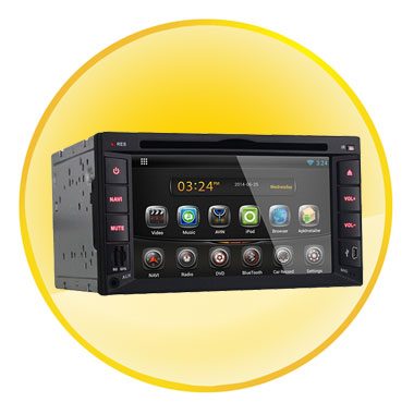 "Universal 6.2"" TFT 800x480 Android 4.2.2 RK3066 1GB RAM 8GB ROM GPS Car DVD Player"