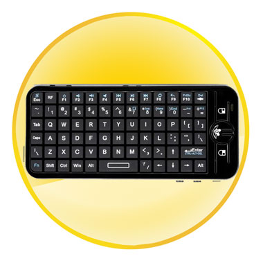 iPazzPort 2.4G Fly/Air Mouse Mini Wireless Keyboard
