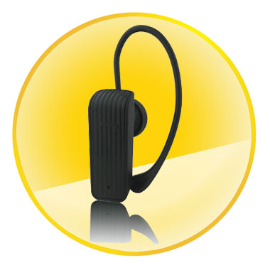 Black Mono Bluetooth Headset with Low Power Comsumption
