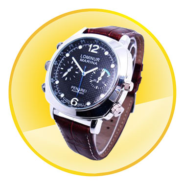 Waterproof 720P Watch Camera with 8GB Memory