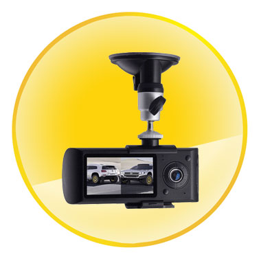 "Dual Camera Car DVR HD 2.7"" Screen GPS G-Sensor Two Lens Vehicle Blackbox"