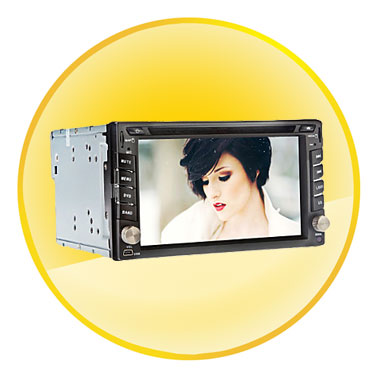 6.2 Inch 2Din In-Dash Car DVD Player with BT,GPS,DVD,FM,iPod,RDS,TV
