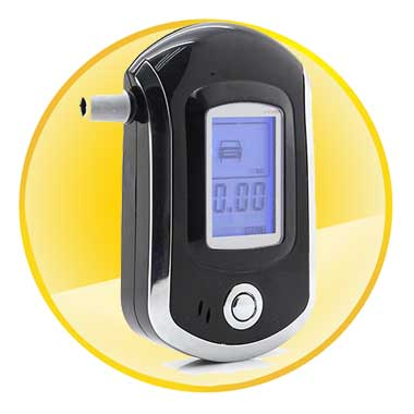 LCD Display Digital Alcohol Breath Tester Breathalyzer