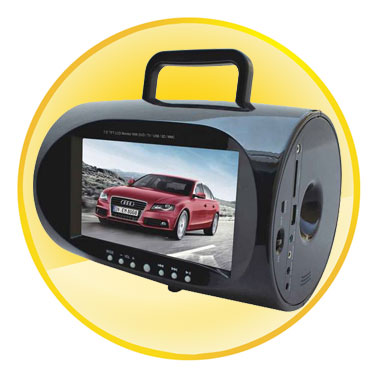 Portable Multimedia DVD Player with 7.5 Inch Screen and Handbag Style
