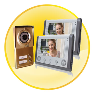 7 inch Night Vision Video Door Phone For Neighbours 2 Families Apartments