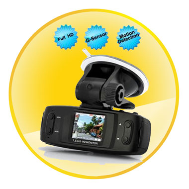 Full HD 1080P 1.5 Inch Car DVR With G-Sensor Motion Detection