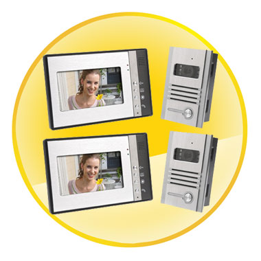 Video Door Phone Intercom 7 inch LCD Full Color Doorbell Intercom Kit 2 Camera 2 Monitor