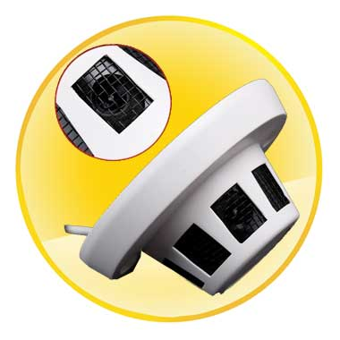 Alarm detector Style Hidden CCTV Camera with 3.6mm Lens