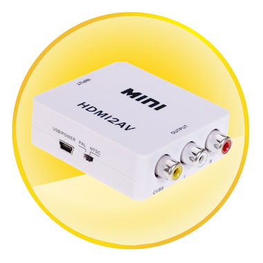MINI HDMI to CVBS/L+R Signal Converter