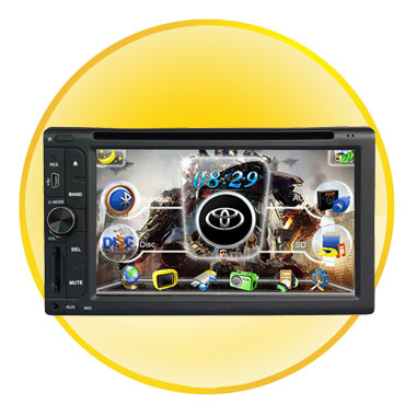 6.2 Inch 2 Din Car DVD Player with IPOD + PIP