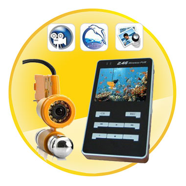 Professional Underwater CCD IR Video Camera With DVR