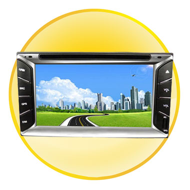 6.2-inch TFT LCD Car DVD Player with Bluetooth
