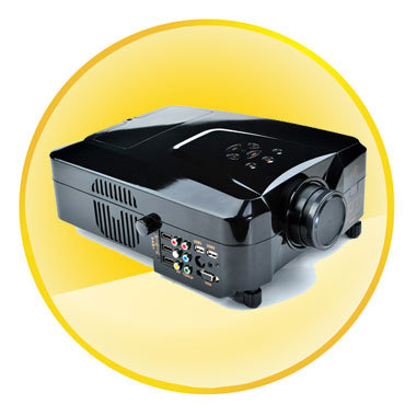 5 inch TFT LCD 1080P Full HD LED Projector