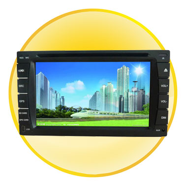 6.2-inch TFT Digital LCD Car DVD Player with IR Remote Control