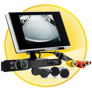 3.5inch LCD Screen+ 4pcs Parking Sensors +Night Vision Rear View Camera