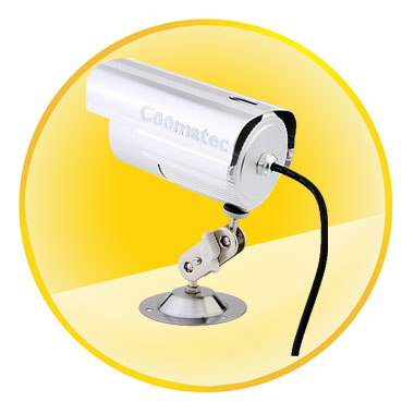 Waterproof Outdoor TF Card DVR CCTV Camera with IR Led