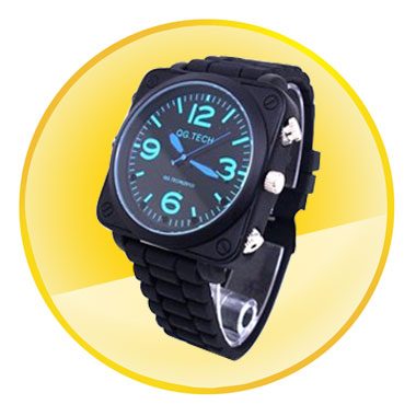 Waterproof 1080P Sound Activation Watch Camera with Night Vision