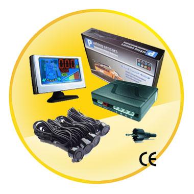 LCD Display 4 sensors Backup Radar Car Parking Sensor