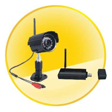2.4GHz 4 Channels Digital Wireless CCTV Camera System